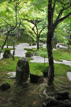 "dihydrate: "" Komyozenji - Rear Garden (by "" Zen Rock Garden, Love Garden, Beautiful Dream, Beautiful Pictures, Landscape Design, Garden Design, Chinese Garden, Japanese Aesthetic, Perfect World"