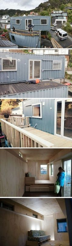Container House - - Who Else Wants Simple Step-By-Step Plans To Design And Build A Container Home From Scratch? Building A Container Home, Container Buildings, Container Architecture, Container House Design, Architecture Design, Eco Casas, Shipping Container House Plans, Shipping Containers, Casas Containers