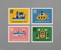stamps: Denmark, 1974