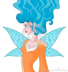 Image representing a beautiful winged fairy. An image that can be used in different projects.