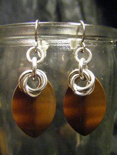 scale earrings bronze    $3.00