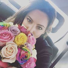 Kelly Brook dream woman On my Way to Surprise Someone Special #RainbowRoses