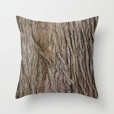 Oak Tree Texture Throw Pillow by Nicklas Gustafsson - $20.00
