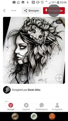 Skull, Ink, Tattoos, Drawings, Pictures, Beautiful, Tattoo Art, Photos, Tatuajes