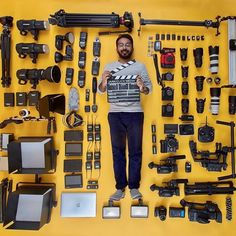 """""""I don't need more gear"""", said no one ever! Insane collection and Photo by @jaanalbalushi who bought his first camera 9 years ago! Tag a friend who needs more gear!"""