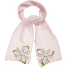 RoRo Pink Knitted Wool and Cashmere Scarf at Childrensalon.com
