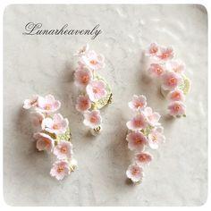 桜のイヤーカフ レース編み