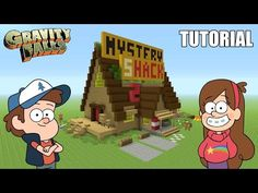 "Minecraft Tutorial: How To Make ""The Mystery Shack"" House! ""Gravity Falls"" (Survival House) - YouTube"