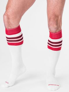 barcode Berlin Football Socks, weiß/rot/schwarz, 90143/206, sexy, SALE
