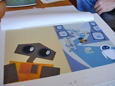 http://grainedit.com/2008/05/12/the-making-of-the-pixar-wall-e-picture-book-lots-of-bots/