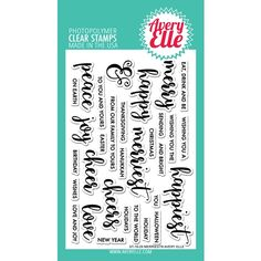 Avery Elle Clear Stamps MERRIEST Set ST-16-29
