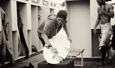 #QUIKSILVER & #ROXY PRO FRANCE 2012 www.worldsurfleague.com Kai Otton (AUS) preparing for round three. ASP/WSL/KirstinScholtz/WORLD SURF LEAGUE #Quiksilver Pro & #Roxy Pro France 2012  WORLD SURF LEAGUE  www.worldsurfleague.com