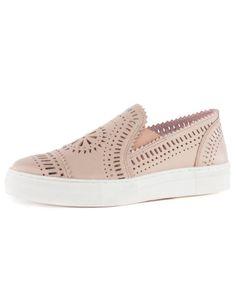 The ideal Seychelles Footwear laser cut leather slip on sneaker. FREE SHIPPING
