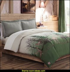Deer Trail  Comforter Set - log cabin - rustic style decorating - camping in the northwoods style