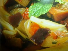 melanzane in agrodolce - menta e peperoncino