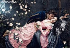 Zac Efron is Prince Philip and Vanessa Hudgens is Aurora in the kiss scene from Sleeping Beauty