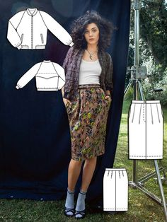 Read the article 'Pretty Grunge: 8 Nineties Inspired Sewing Patterns' in the BurdaStyle blog 'Daily Thread'.