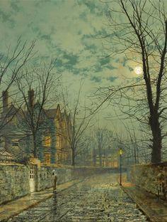 laclefdescoeurs:  Evening Shadows, John Atkinson Grimshaw