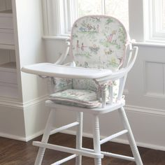 Pink Over the Moon Toile High Chair Pad #carouseldesigns