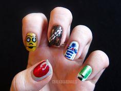 Chalkboard Nails: Star Wars Nail Art