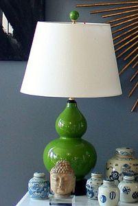 Kelly Green Gourd lamp