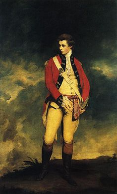 Colonel John Hayes St. Ledger, by Sir Joshua Reynolds. The Colonel was aide-de-camp for the Prince of Wales.~