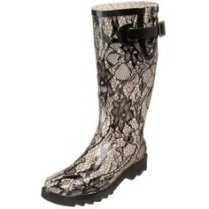 I love rain boots.  Check out this post on Wearability about them...