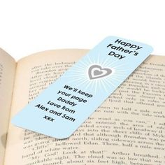 If your dad is an avid bookworm, there's no better gift than a Father's Day Personalised Bookmark! Choose a message to be printed on the bookmark and make a unique gift he will love to use. #FathersDay #FathersDayGifts #Bookmark #PersonalisedGifts £7.95