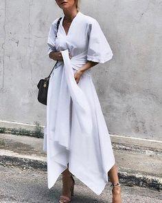 Plus Size Maxi Dresses, White Maxi Dresses, Women's Dresses, Casual Dresses, Elegant Dresses, Dresses Online, Skater Dresses, Casual Outfits, Purple Dress Casual