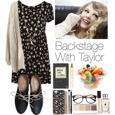 Backstage with Taylor by lovatic92 on Polyvore featuring Pull&Bear, Miz Mooz, Minor Obsessions, Marc Jacobs, taylorswift, swiftie and backstage