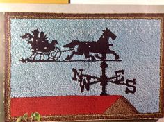 # 619 Dashing Thru The Snow. Aunt Lydia's Punch Needle. Finished size 24x36 or 61x92 cm. Rug Pattern Kit. Traditional Rug Pattern. Kit contains stamped rug fabric, yarn list (yarn not included) and directions. | eBay!