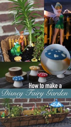 Tips and ideas on how to make your very own Disney Fairy Garden