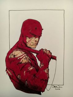 Daredevil by Steve McNiven Comic Art Comic Movies, Comic Book Characters, Comic Book Heroes, Marvel Characters, Comic Books Art, Comic Character, Character Design, Daredevil Artwork, Daredevil Punisher