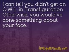 Harry Potter Insults xD