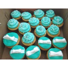 Tiffany cupcakes my friend made for us!!