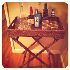 The beginnings of my own inspired mini bar.