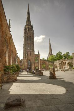 Coventry Cathedral, West Midlands, England before WW11
