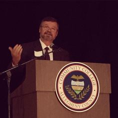 #CCAC Provost Dr. Stuart Blacklaw (@sblacklaw) delivers an update on the accreditation process at the #CCAC All College Day.