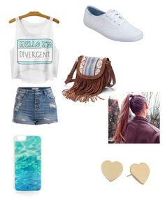 I am divergent by grace1323 on Polyvore featuring polyvore, beauty, Kate Spade, Mudd, Pieces and Keds