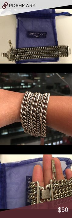 Jimmy Choo bracelet LIMITED EDITION!!! JIMMY CHOO From H&M... this rustic bracelet will make you swoon! Don't miss this deal! Jimmy Choo Jewelry Bracelets