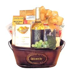 wine gift basket by thoughtful expressions fort st. john gift baskets