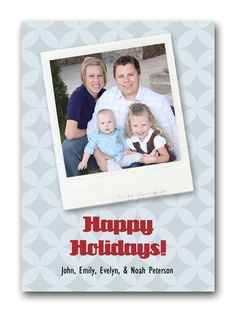 Exclusive 5x7 Happy Holidays Polaroid Memory Lab photo card