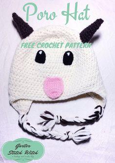 League of Legends Poro Hat Crochet Free Pattern from Garterstitchwitch.blogspot.com