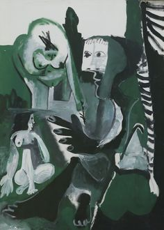 IMG_9601 Pablo Picasso. 1881-1973. Le Déjeuner sur l'herbe (d'après Manet). Luncheon on the Grass (after Manet) 1961. Hannover. Sprengel Museum.