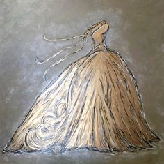 """zsazsabellagio: """" TITLE: """"GOLDEN GOWN IX"""" FROM THE GOLDEN GOWN SERIES by ZsaZsa Bellagio MEDIUM: OIL AND GOLD LEAF ON BOARD see details here: www.artpassionzsazsabellagio.blogspot.com """""""