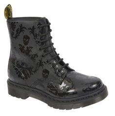 Doc Martens with skull print