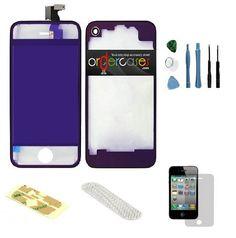 Iphone 4S Complete Color Change Kit (Transparent Mirror Purple) #http://www.pinterest.com/ordercases/