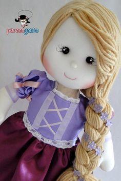 Boneca Rapunzel 50 Cm