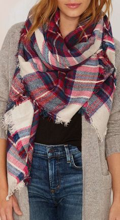 Plaid Scarf ❤︎ #fall #fashion