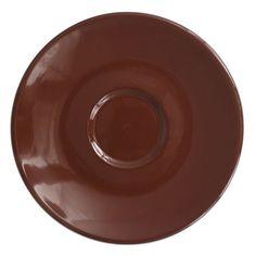 """Cremaware Brown Saucer: 6.5"""" (4574)"""